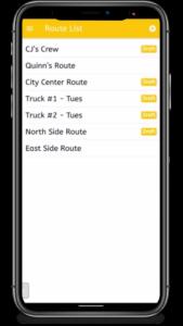 Route List in Phone in ezbz app